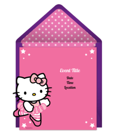 Online Invitations From Hello Kitty