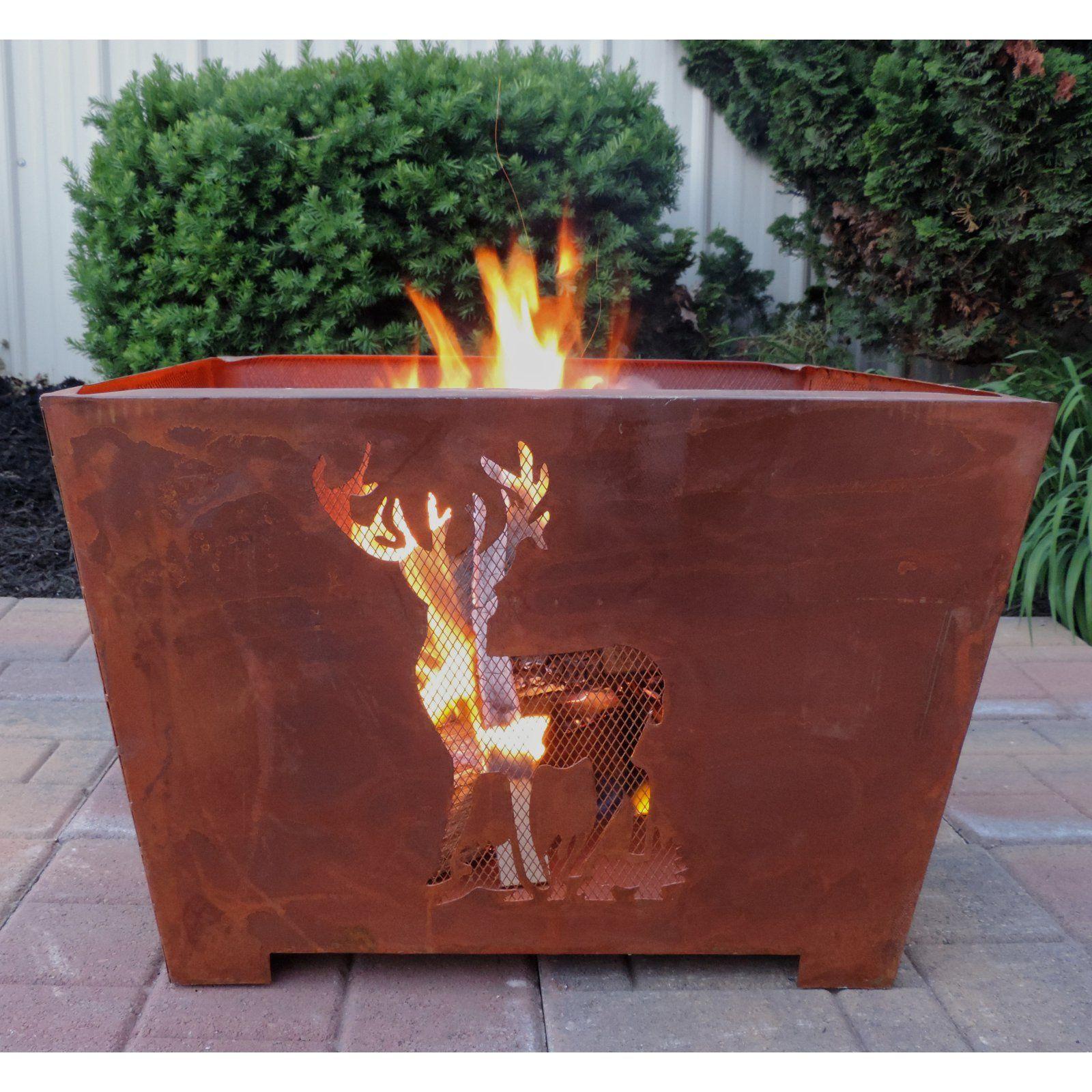 Esschert Design Nature Scene 23 5 In Fire Pit With Images Wood Burning Fire Pit Wood Burning Fires Fire Pit