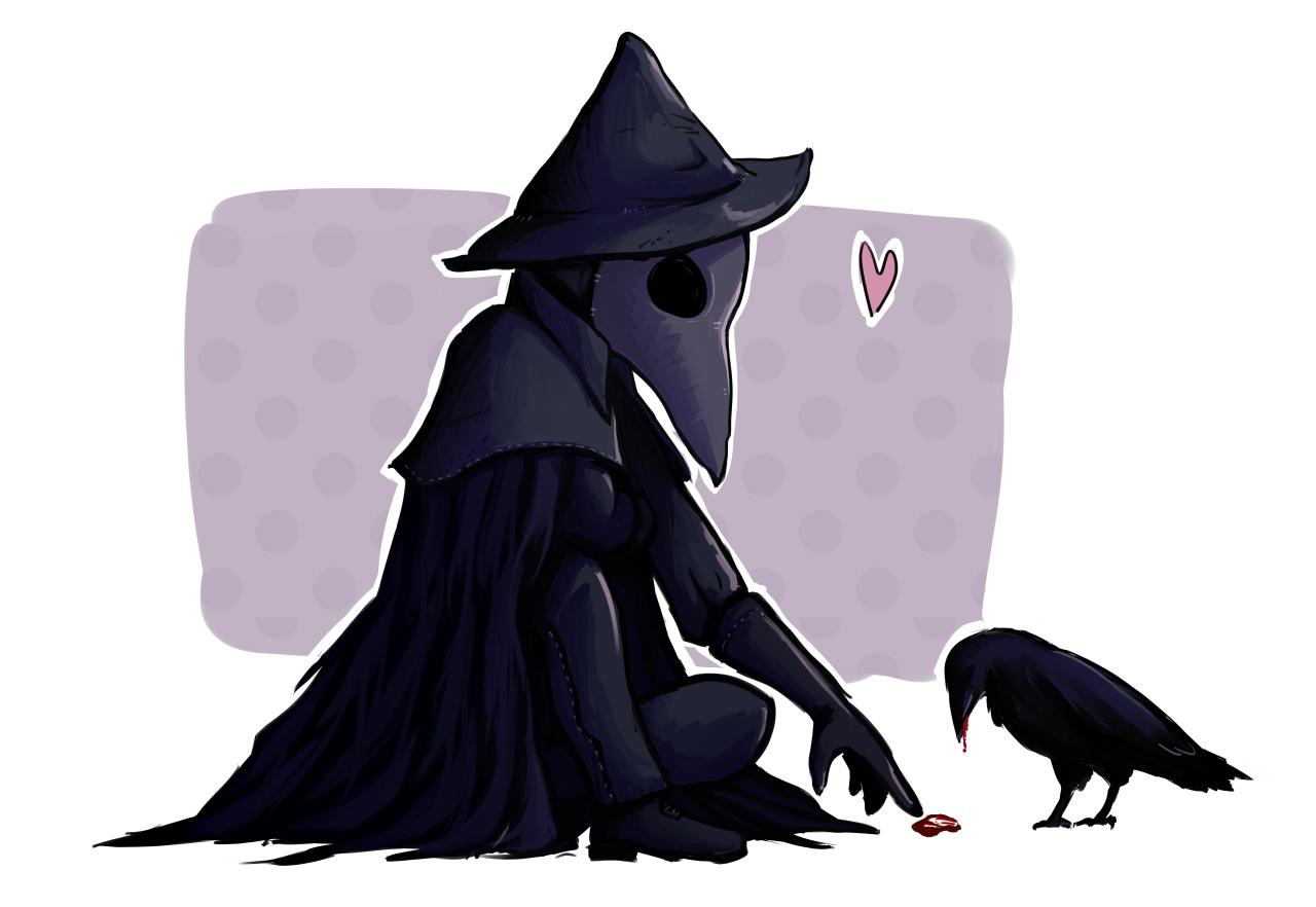 Eileen the Crow Plague doctor, Bloodborne art, Eileen