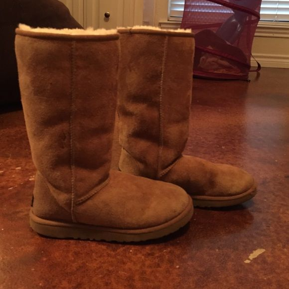 tall uggs. size 7. size 7 chestnut color uggs. price negotiable. UGG Shoes Ankle Boots & Booties