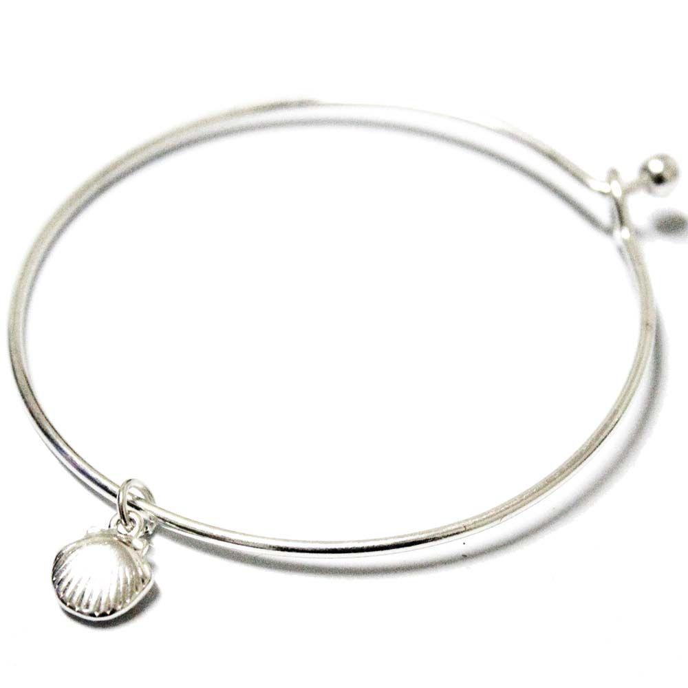 Sea shell bracelets for women minimalist delicate pulseira silver