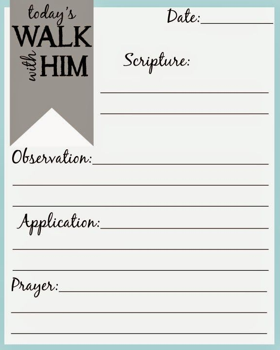 SOAP Scripture, Observation, Application, and Prayer Bible - free journal templates