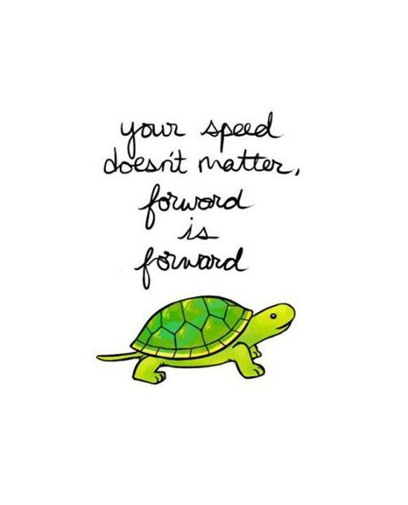 Sometimes We Forget That Slow Progress Is Still Progress As Long As
