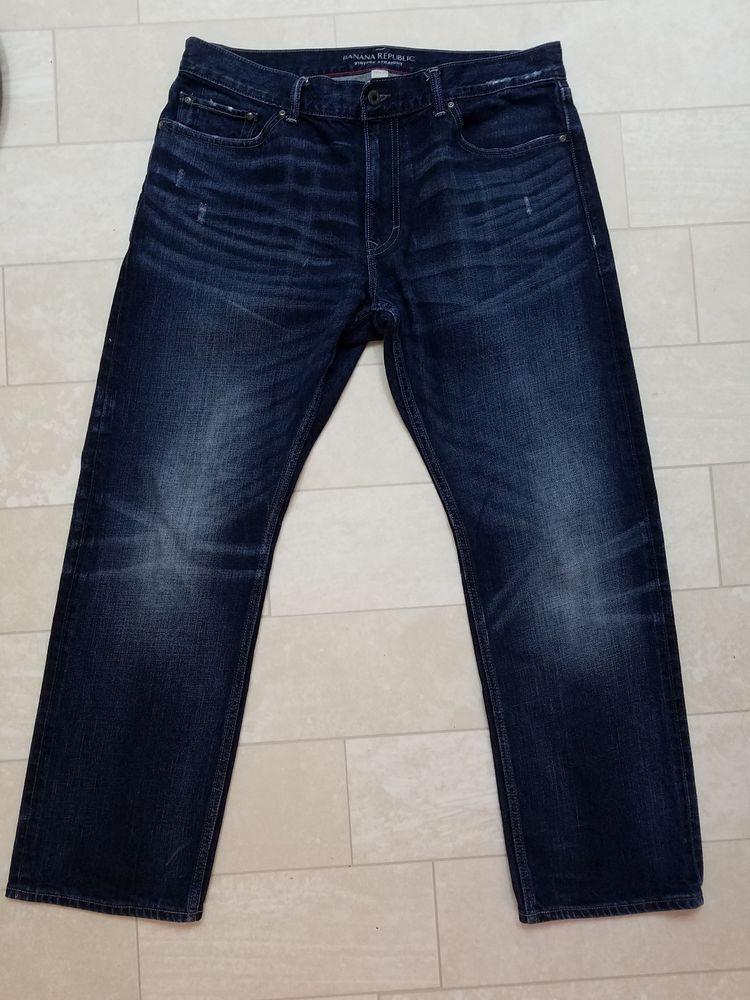 fc1b6beb Banana Republic Mens Vintage Straight Leg Jeans dark blue 36 X 30 #fashion  #clothing #shoes #accessories #mensclothing #jeans (ebay link)