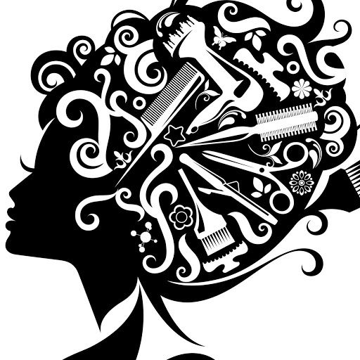 Beauty Salon Decor Hair And Vector Art Silhouette