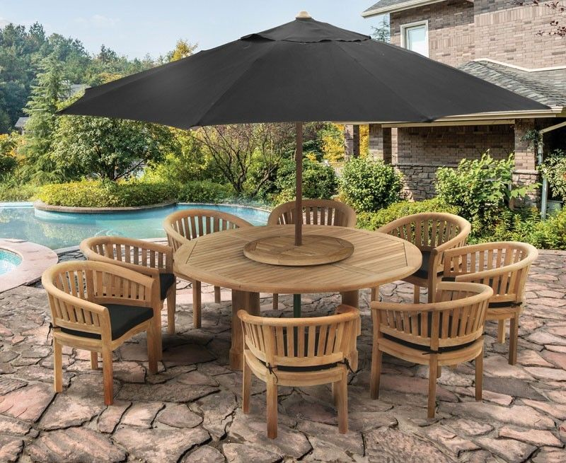 Teak Titan Table Set 18m dining garden patio teak dining