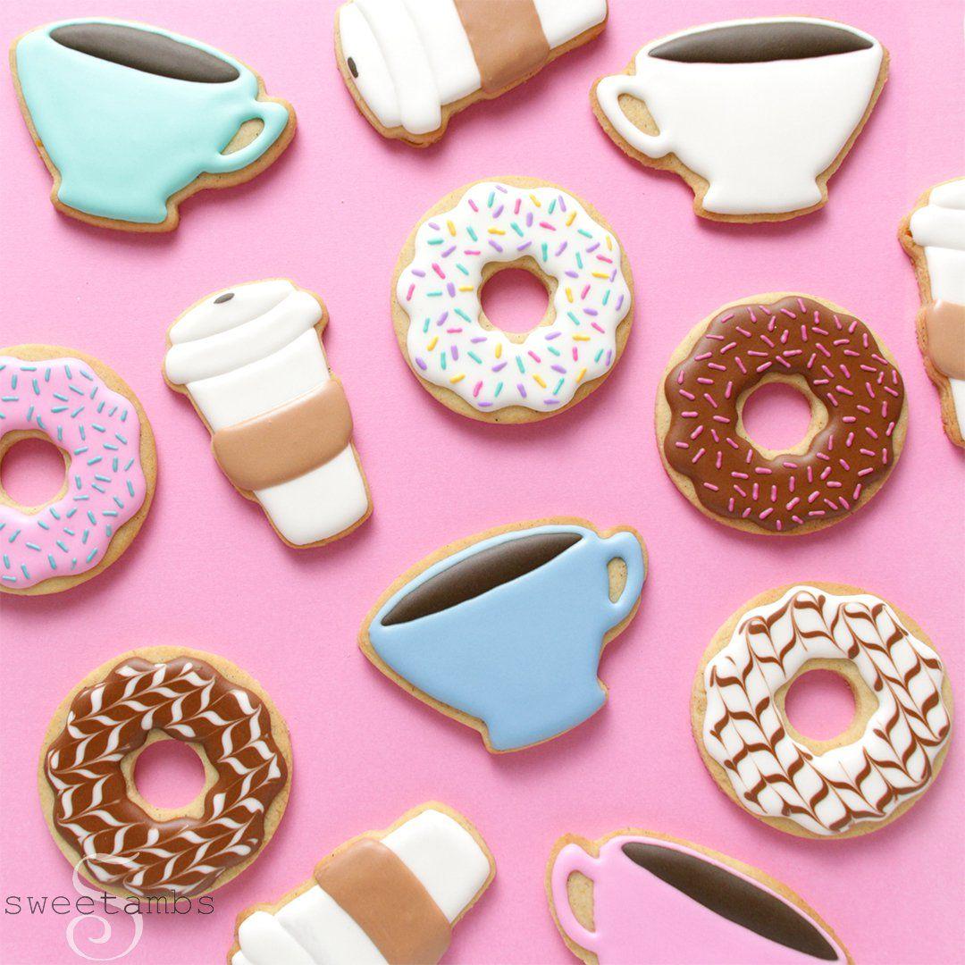 Coffee and Donut Cookies! - SweetAmbs
