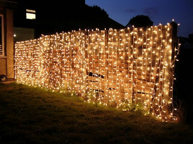 25 Ideas For Decorating Your Garden Fence Summer Garden Party Curtain Lights Backyard Party
