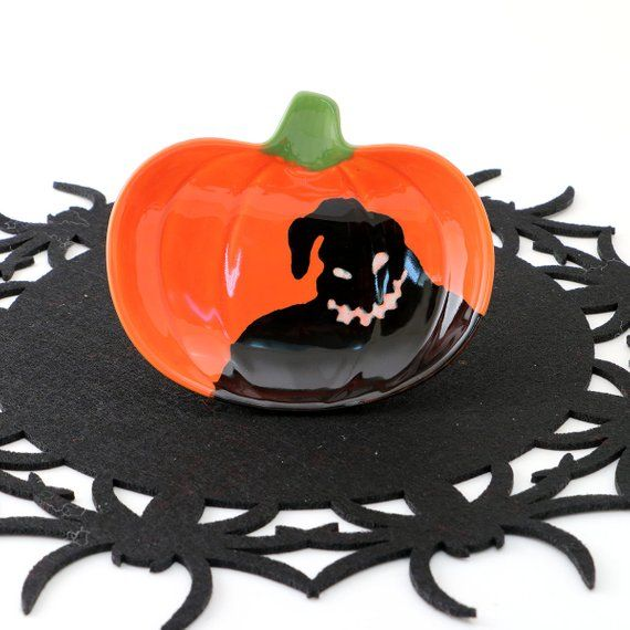 Nightmare before Christmas -Oogie Boogie - ceramic pumpkin dish