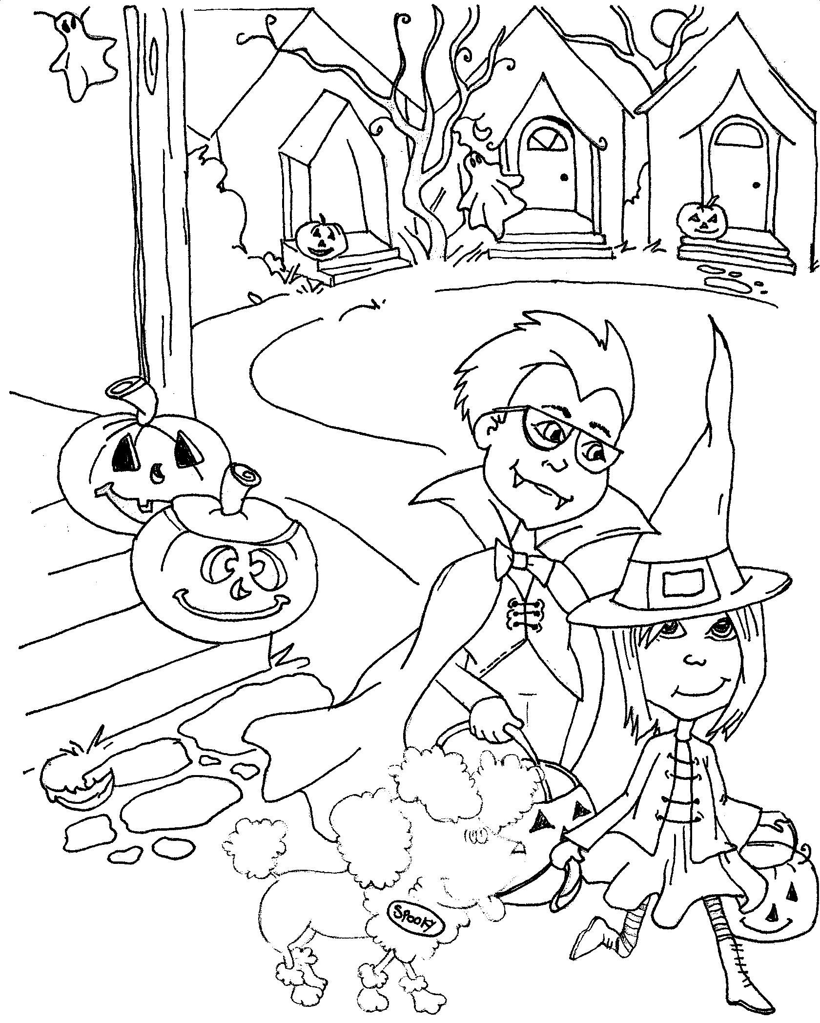 Spooky The Ghost Dog Coloring Page