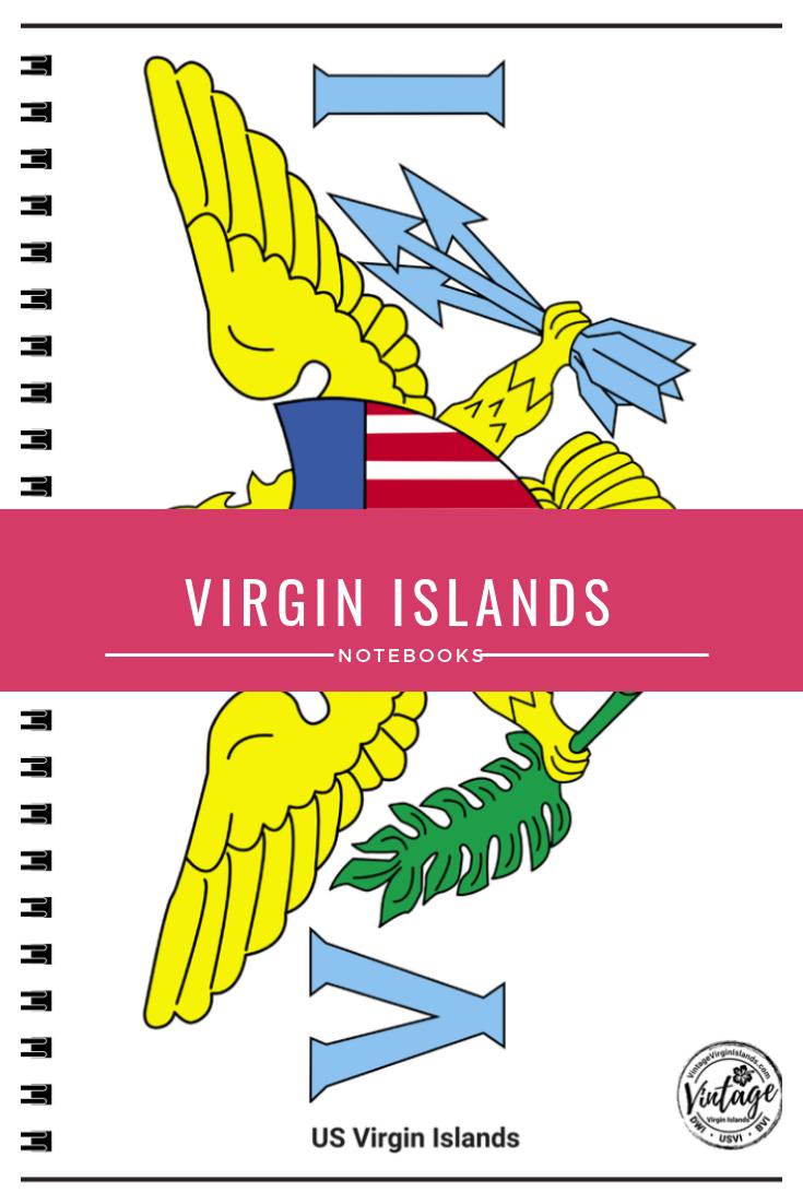Virgin Islands Notebooks Virgin Islands Flag Virgin Islands Island