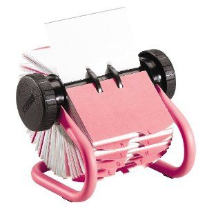 Y Desk Accessories Pink Rolodex Business Card Rotary File