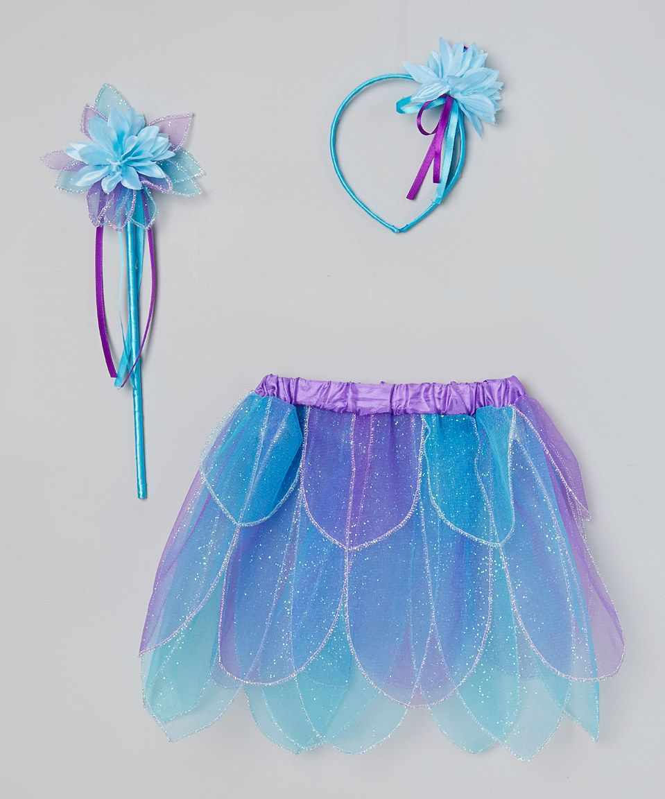 Love this Princess Expressions Blue Fairy Flower Dress-Up Set - Girls by Princess Expressions on #zulily! #zulilyfinds