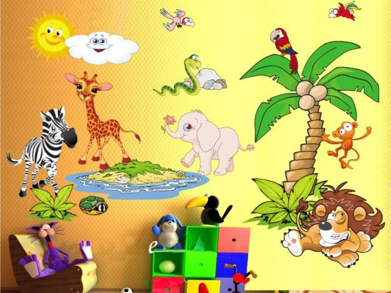 Best Kids Wall Decals Images On Pinterest Baby Room Kids - Jungle themed nursery wall decals