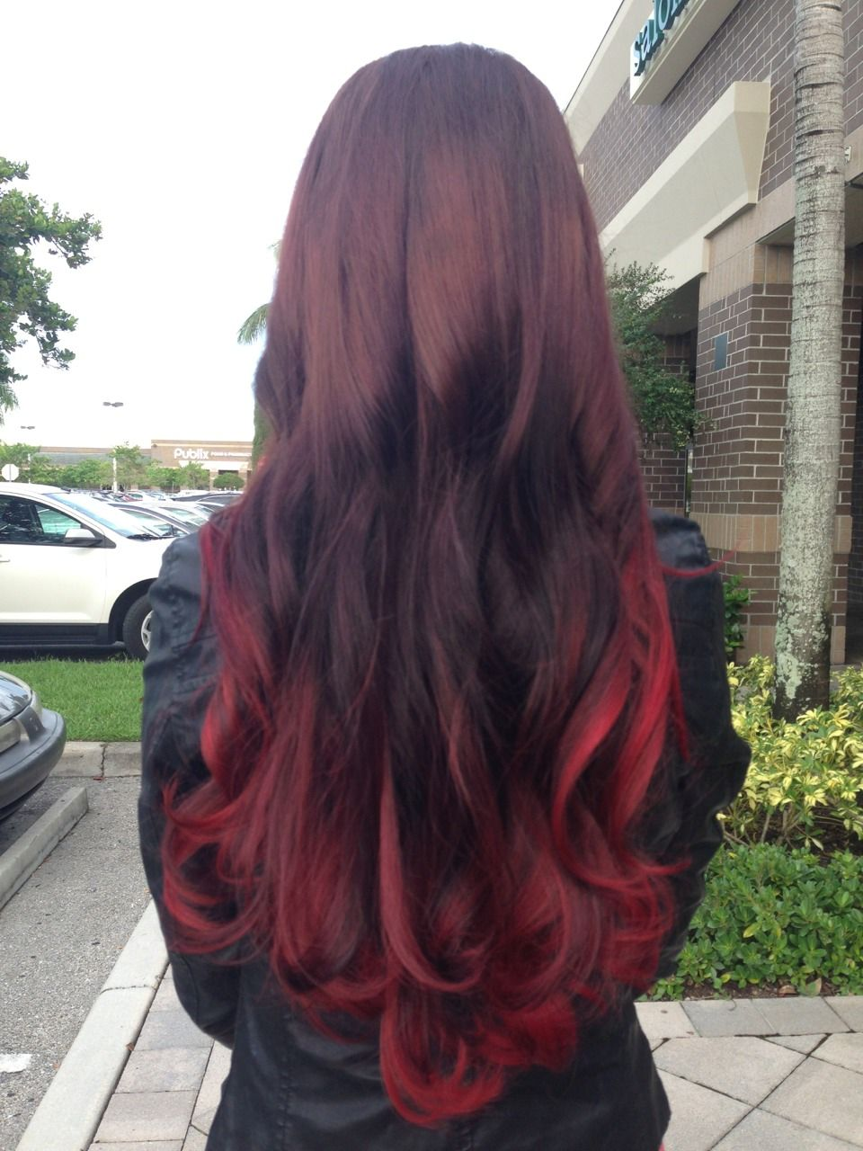 Red Ombre Beauty Hair Color Dip Dye Hair Ombre Hair