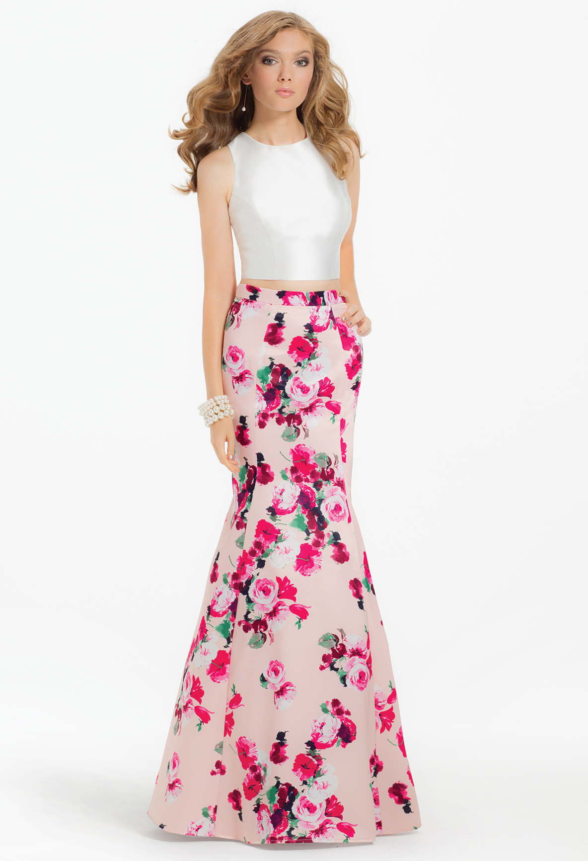 Floral Two-Piece Dress #camillelavie #CLVprom | PROM DRESSES: TWO ...