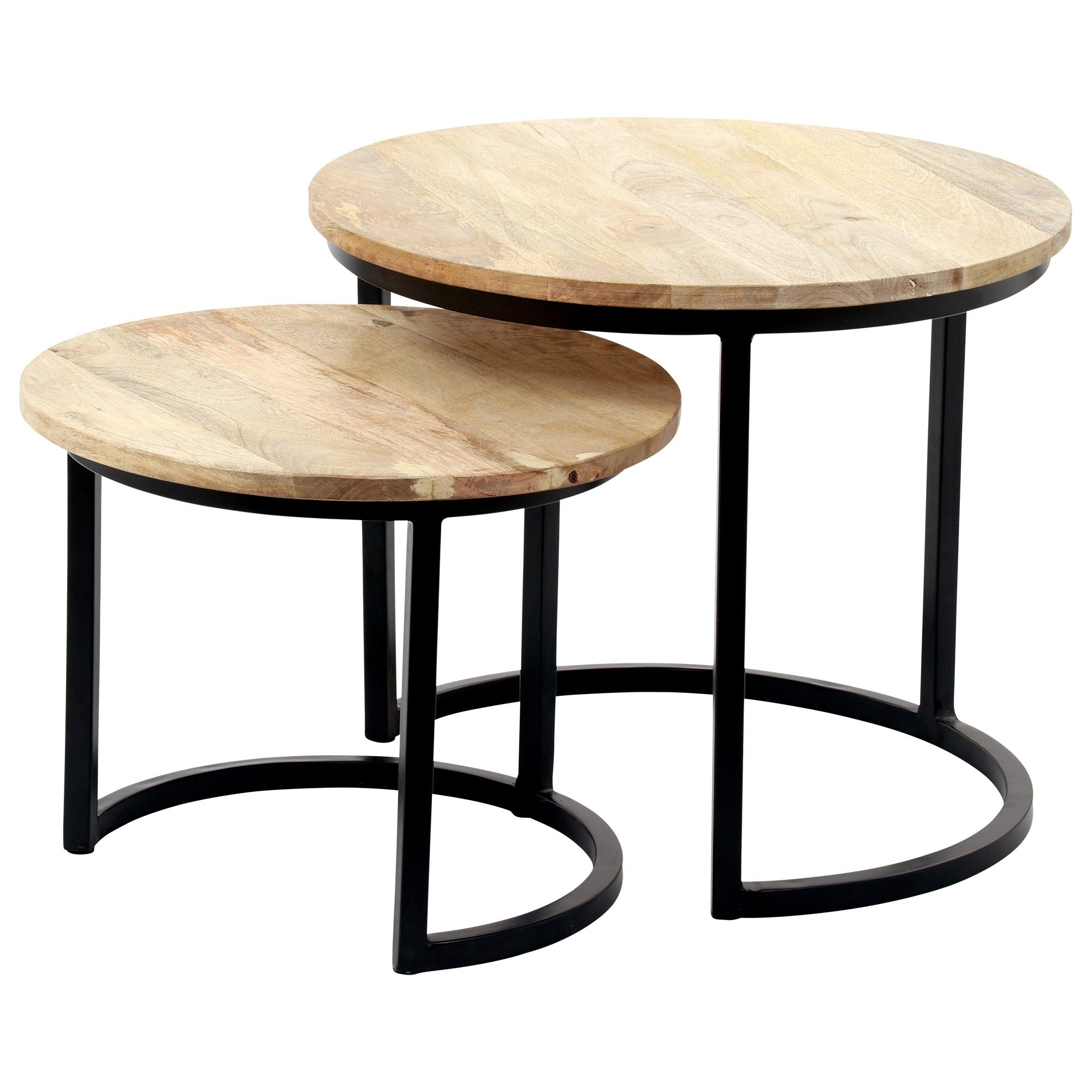 Kindred Wood Nesting Tables Coffee Table
