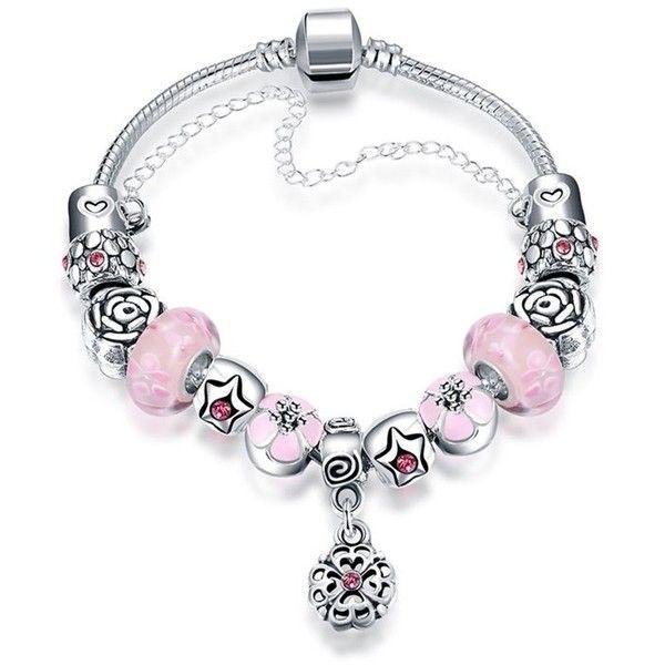 Rubique Jewelry Mini Sleek Pink Pandora Inspired Bracelet 415028001
