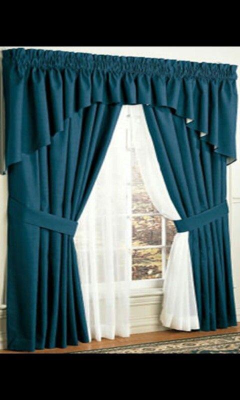 Azul marino cortinas  Decoracin en 2018  Pinterest
