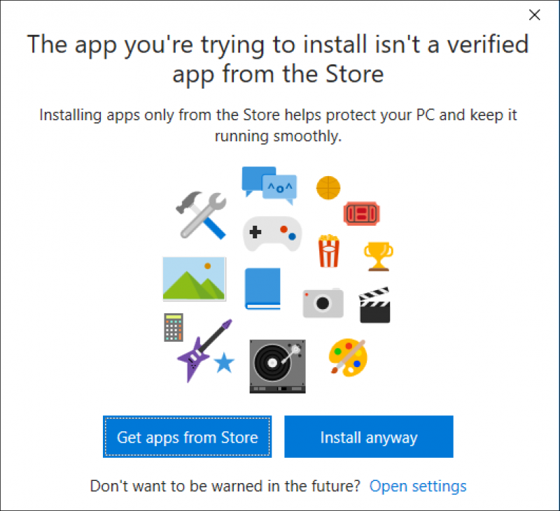 Stop Third Party App Installation in Windows 10 Party