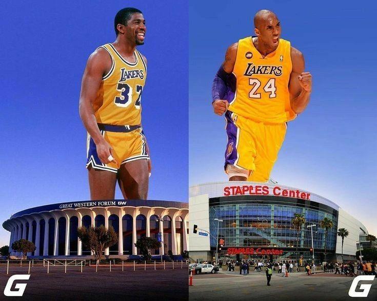 Magic Johnson And Kobe Bryant Lakers In 2020 Kobe Kobe Bryant Bryant Lakers