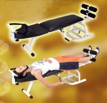 Neck, Back, Leg and Sinew Traction Couch / Traction Table (ST-7) by Traction Device. $499.99. The BEST body traction/ exercise equipment Neck vertebrate traction rehabilitation: Safe, elastic holding belt design allows the traction and dragging of neck vertebrate muscle and ligament and the expansion if intervertebral foramen. This will restore the deformed intervertebral disk, reduce the pressure on neck and strengthen the tensile of neck muscles and relieve the sour ...