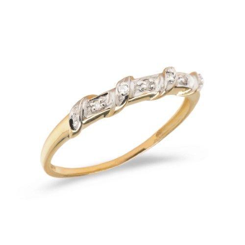 e9a045f72975 14K Yellow Gold Diamond Band Ring (Size 8.5)