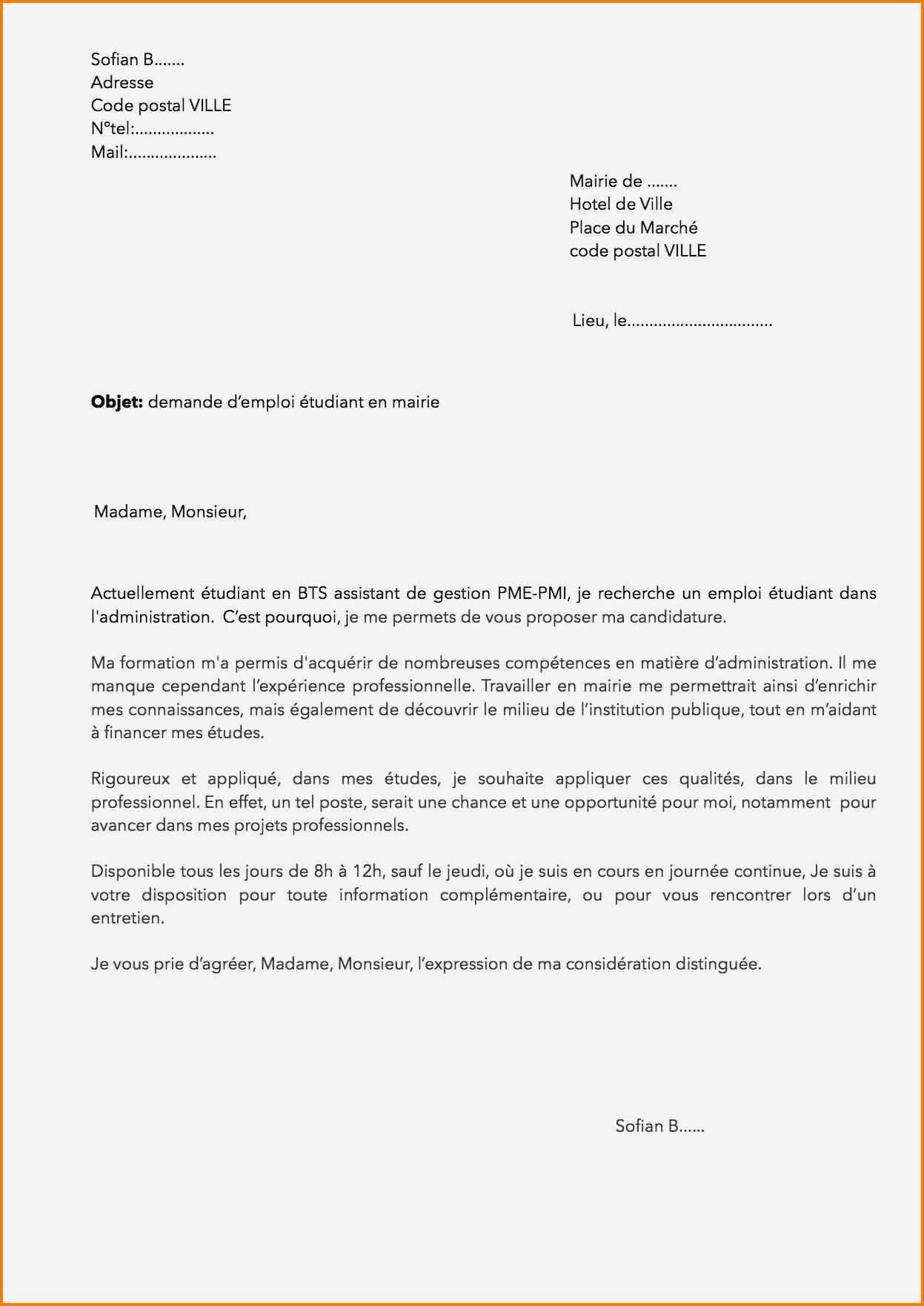 Best Of Lettre De Motivation Pour Un Supermarche Motivation Administration
