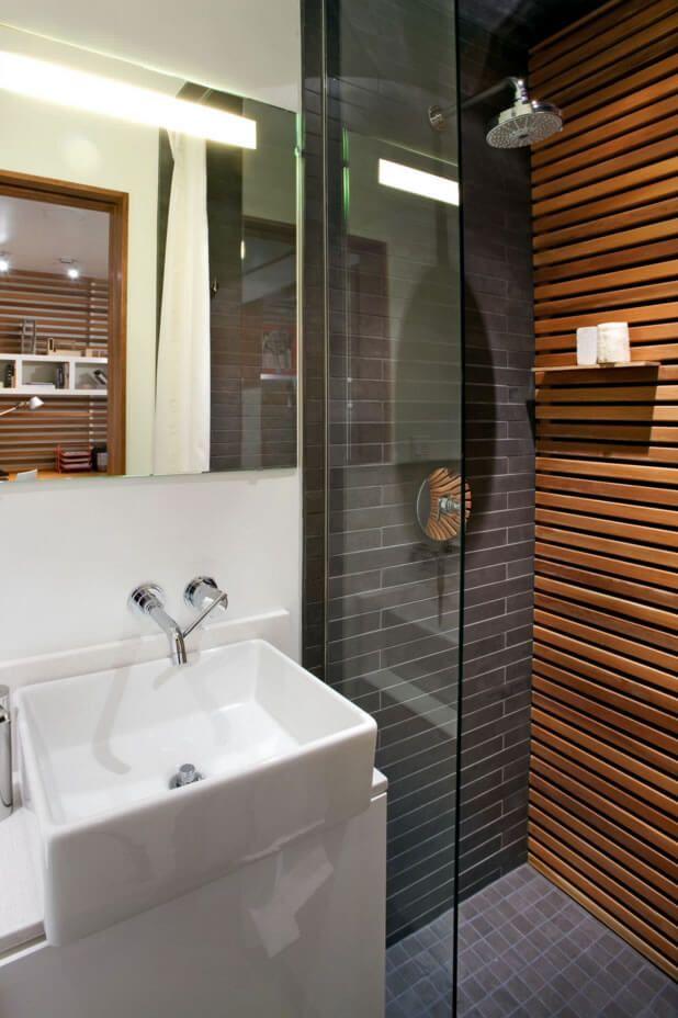 Favoritos banheiro pequeno decorado com madeira | Banheiro | Pinterest  QW87