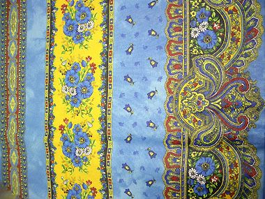 Coated Tablecloth Marat D Avignon Tradition Blue Provence