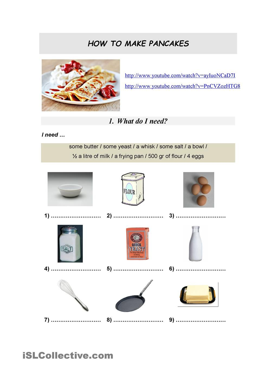 How To Make Pancakes How To Make Pancakes Worksheets How To Prepare Pancake