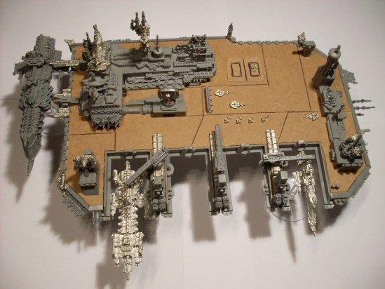 Battlefleet Gothic Scratch Build Space Dock The Shell Case
