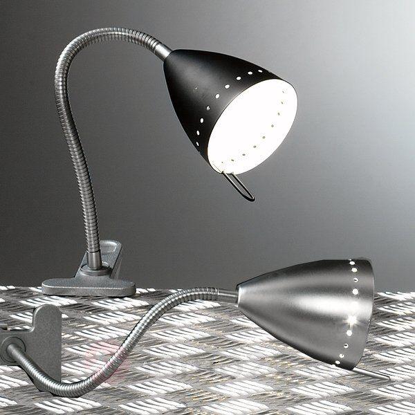 Denna klämlampa sticker ut genom ett vackert utseende, men än mer genom de flexibla användningsmöjligheterna.