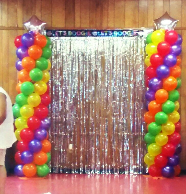 Cute for a disco party theme balloons pinterest for 70s party decoration ideas