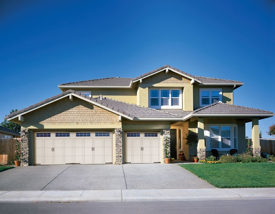 Courtyard Collection® garage doors feature insulated steel ...