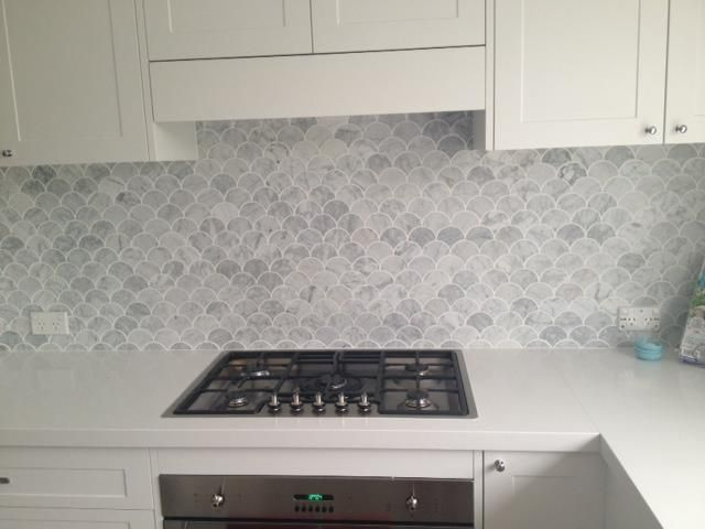 Fish Scales Tile Transitional Kitchen Matilda Rose Interiors
