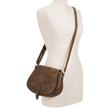 T-Shirt & Jeans™ Women's Saddle Handbag with Lacing : Target