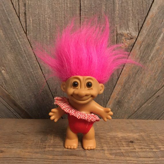 "NEW Pink Hair 5/"" Russ Troll Doll RED SWIM // BATHING SUIT"