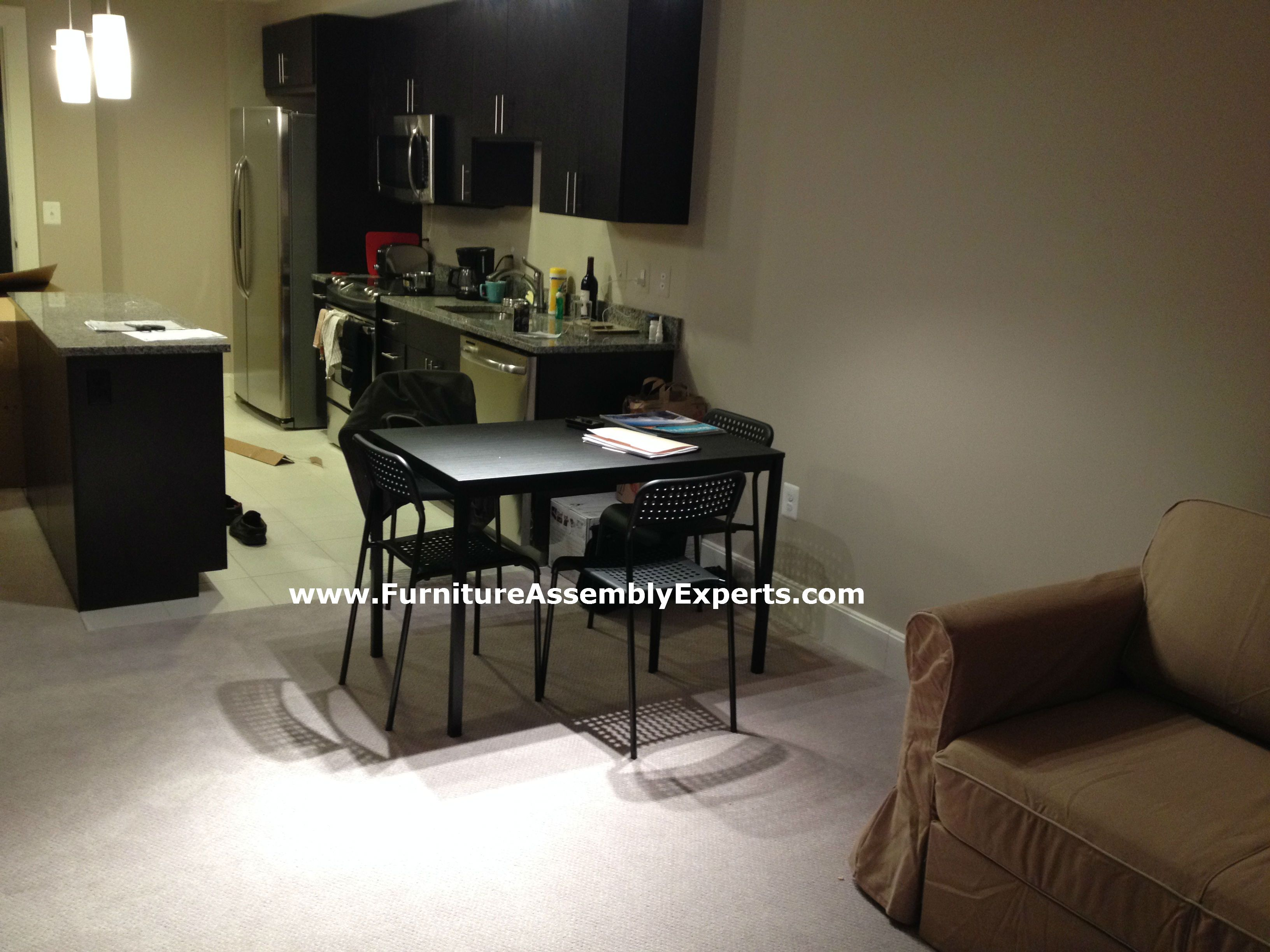 Ikea Dining Table And Chairs Assembled In Philadelphia PA By Furniture  Assembly Experts LLC