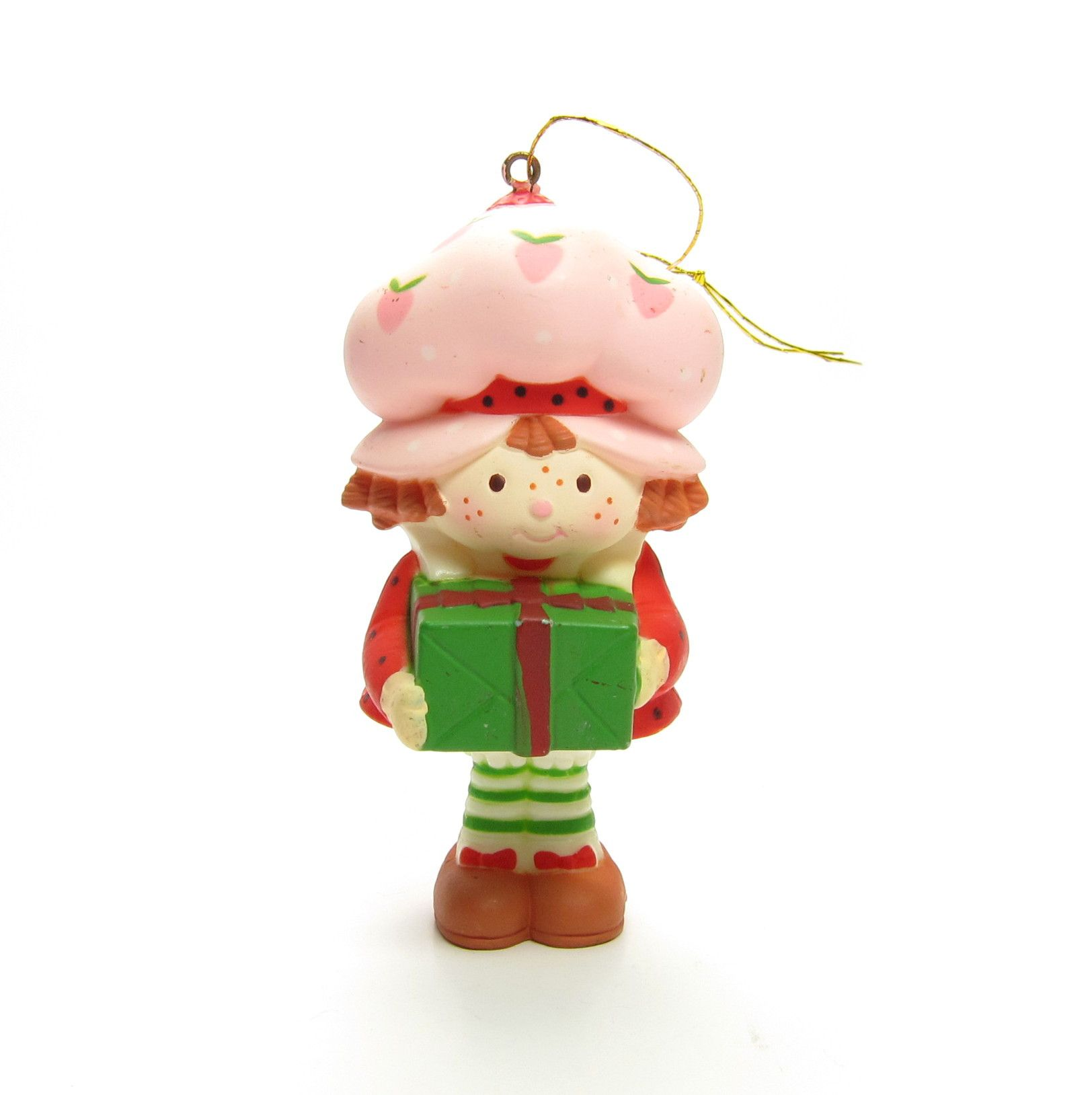 Strawberry Shortcake Christmas Ornament With Present