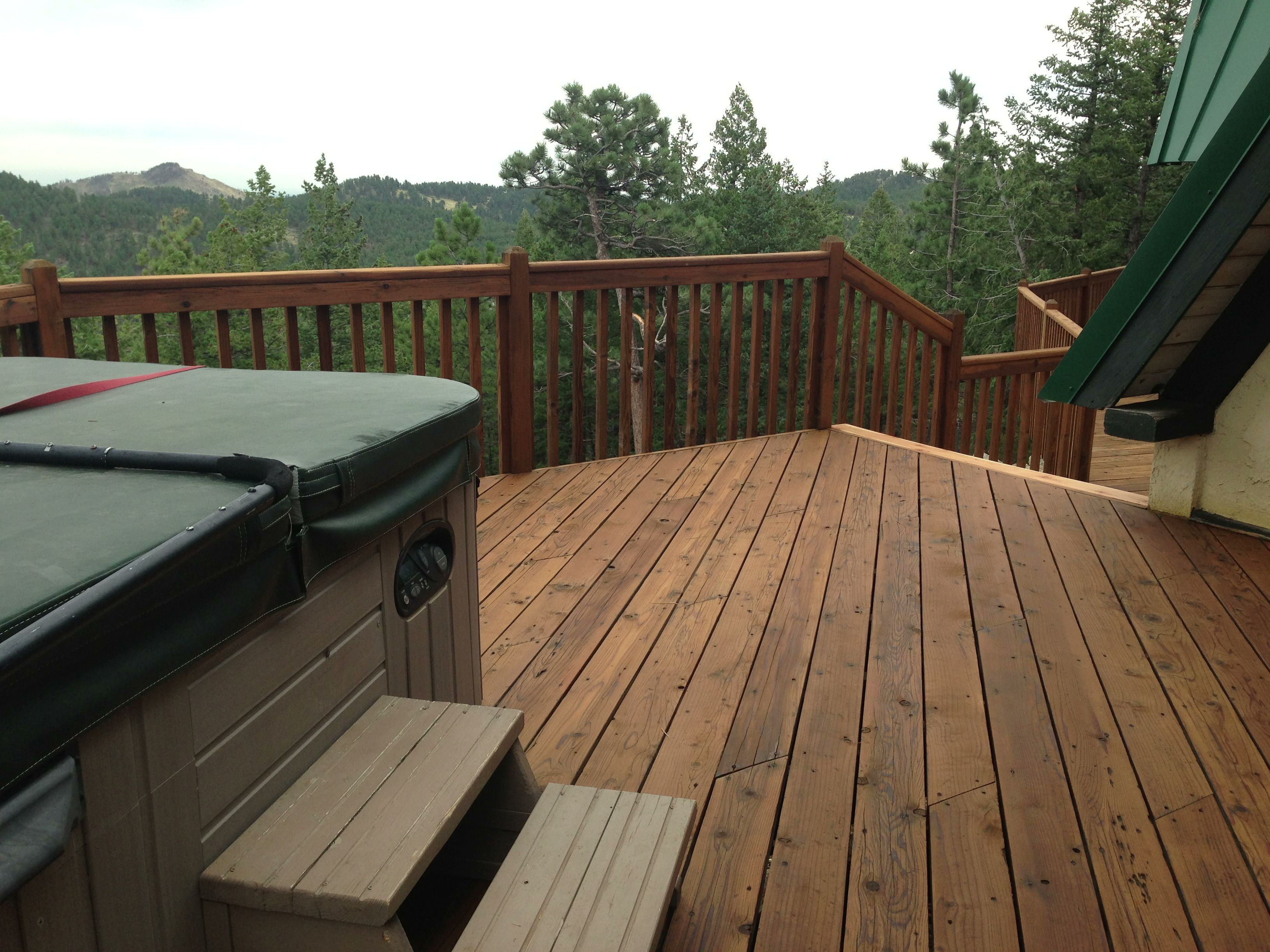Pin By Stacie L On Deck Restoration In The Colorado Rockies Backyard Patio Deck Restoration Outdoor Areas