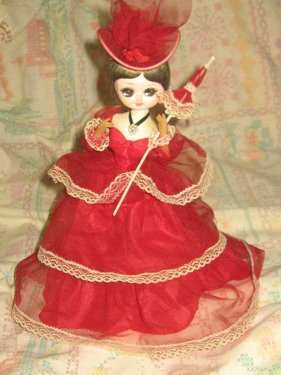 vintage Bradley big eyes doll with parasol  by Linsvintageboutique, $14.50