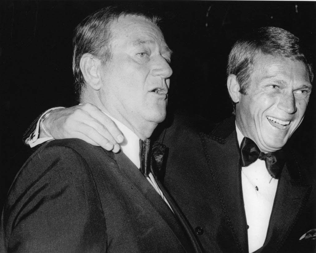 Image result for john wayne and steve mcqueen