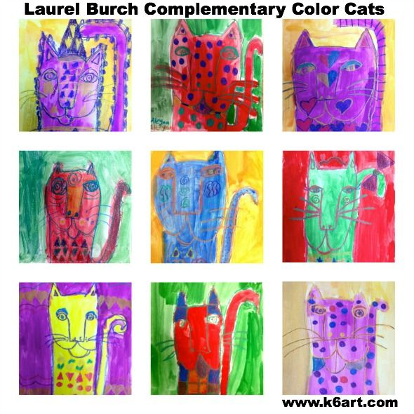 Laurel Burch Complementary Color Cats K