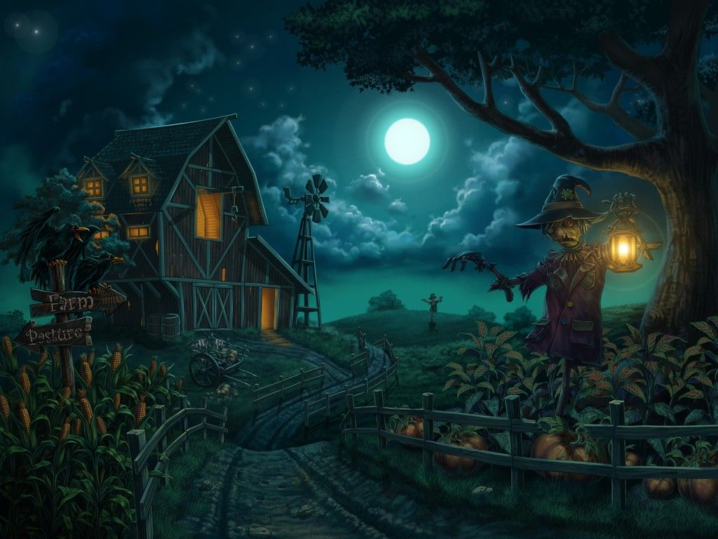 Autumn Halloween Images Gallery Hd Wallpaper For Desktop Halloween Wallpaper Halloween Pictures Halloween Moon
