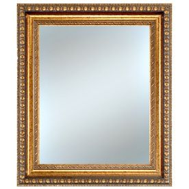 alpine art mirror 26 in x 30 in gold rectangle framed wall mirror