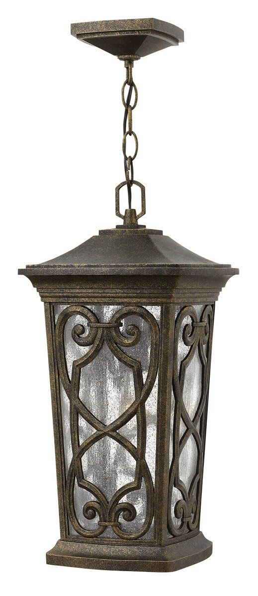 Hinkley lighting 2272am enzo 1 light 10 inch autumn outdoor hanging lantern in incandescent clear seedy