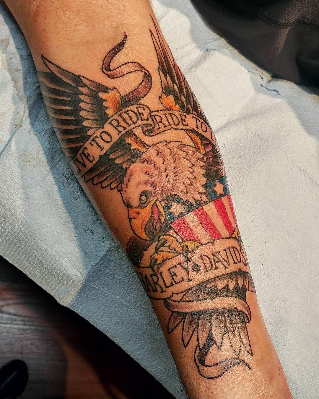 harley davidson tattoos for ladies