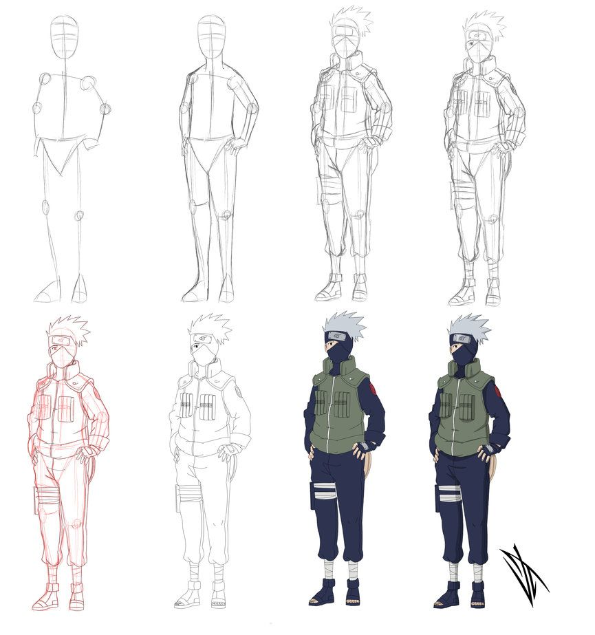Step By Step Hatake Kakashi By Johnny Wolf Reference 2 0 In 2019