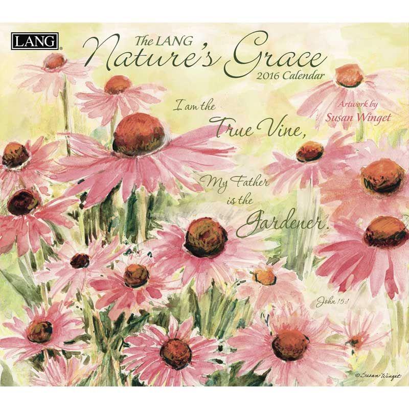 Natures Grace Susan Winget 2016 Lang Calendar Decoupage